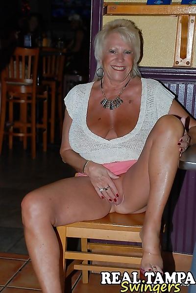 Horny granny enjoying some..