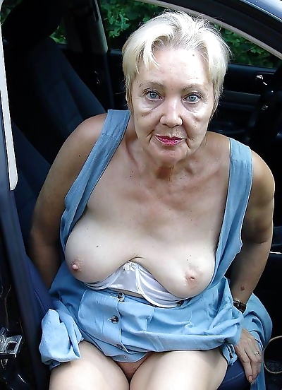 Very old women posing and in..