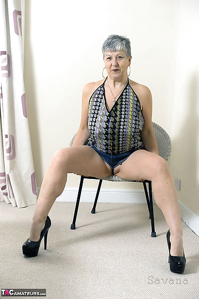 Old lady with great legs..