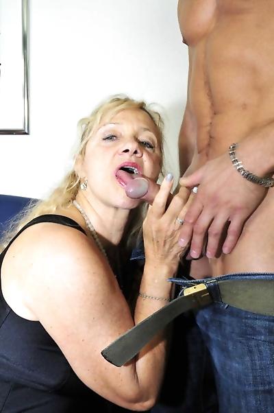 Older blonde lady Beate G..