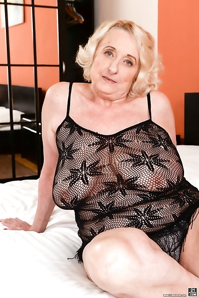 Blonde granny with big tits..