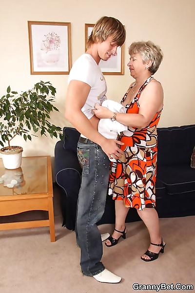 Horny blonde granny craving..