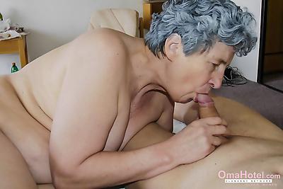 Grandma with wrinkles all..