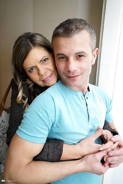 Mature couple undress as..