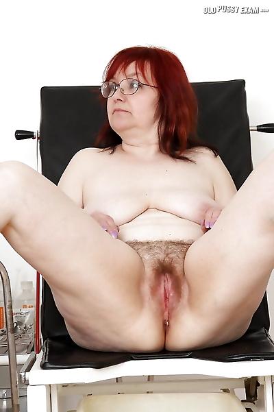 Redhead granny in glasses..