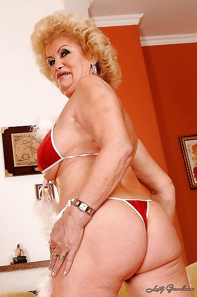 Filthy granny with big jugs..