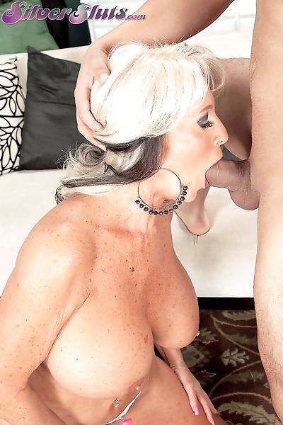 Big boobed granny Sally..