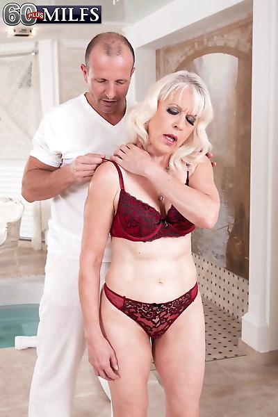 Hot blonde granny Lady S..