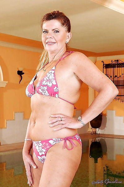 Lusty granny with sexy ass..