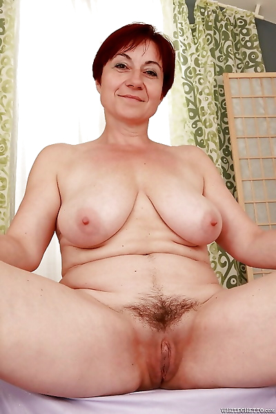 Lusty granny with big flabby..
