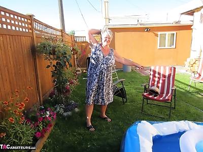 Fatty mature granny Girdle..