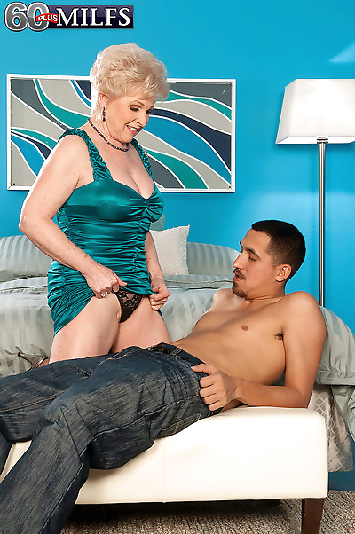 Horny granny Jewel gives her..