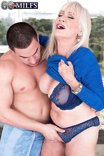 Big boobed granny Leah..