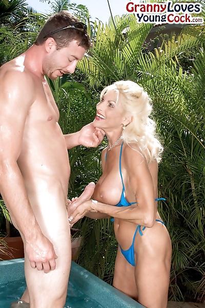 Big titted aged lady Sasha..
