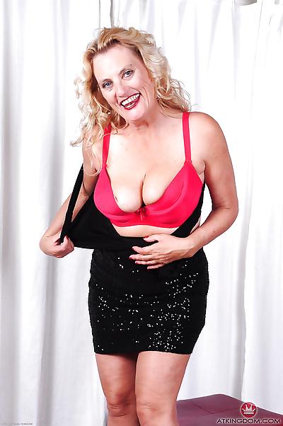 Older blonde model Lady..