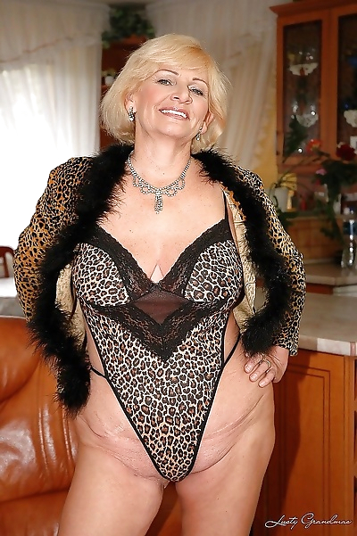 Granny with big tits sucking..