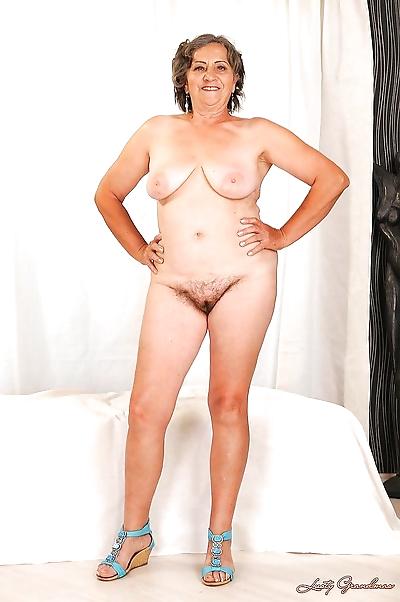 Naughty granny with fatty..