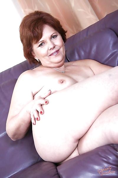 Lustful redhead granny..
