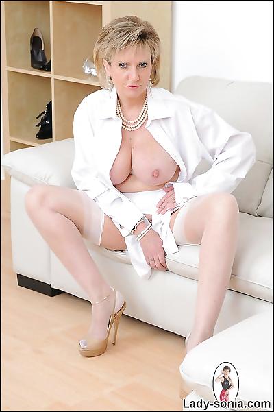 White nylon stockings classy..