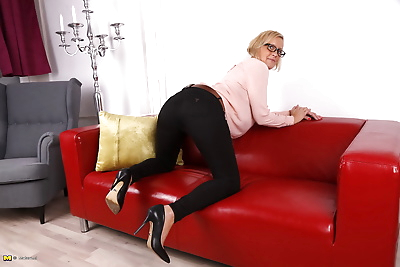 Horny german housewife doing..