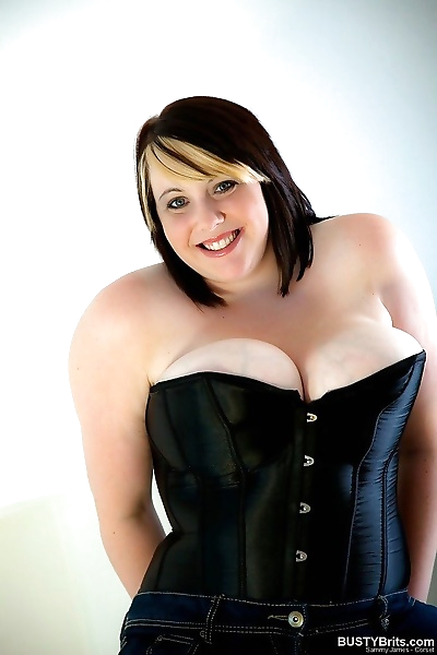 Curvy sammy james in a black..