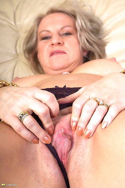 This horny housewife is..