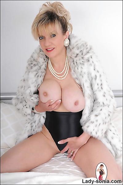 Fur coat very classy busty..