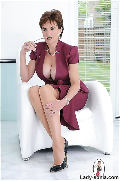 Cleavage and nylons trophy..