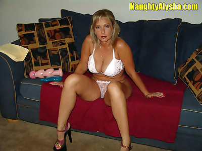 Naughty alysha stuffs some..