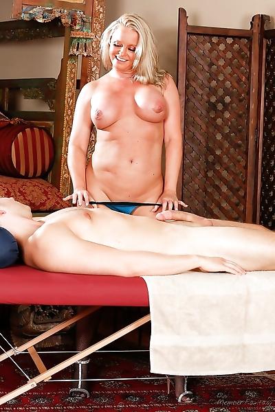 Mature blonde masseuse Maya..