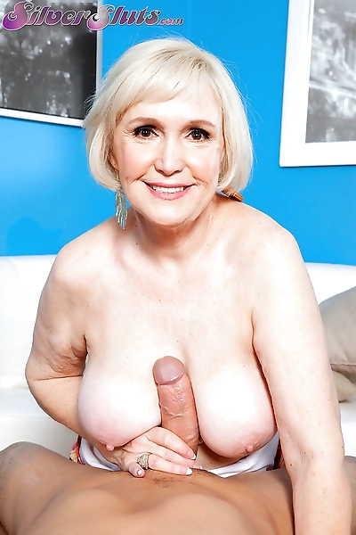 Granny with juicy tits is..