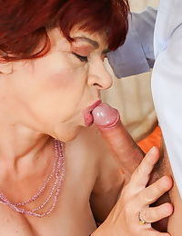 Lusty grandma donatella is having a drink with her young friend - part 2853