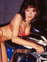 Motorbike retro leather leggy milf lady sonia - part 4605