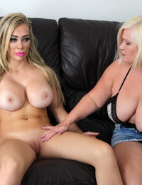 Horny granny Lacey Starr has lesbian sex with real life sex doll Chessie Kay
